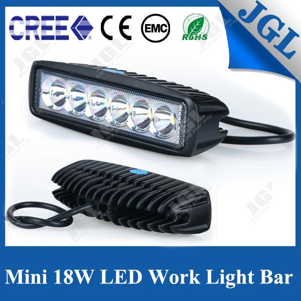 18W LED Work Light Auto 4X4 Vehicle Mini Light Bar