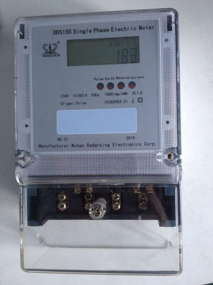 Smart Anti-Tamper Double Circuit Single Phase Energy Meter for Bangladesh Market with CT