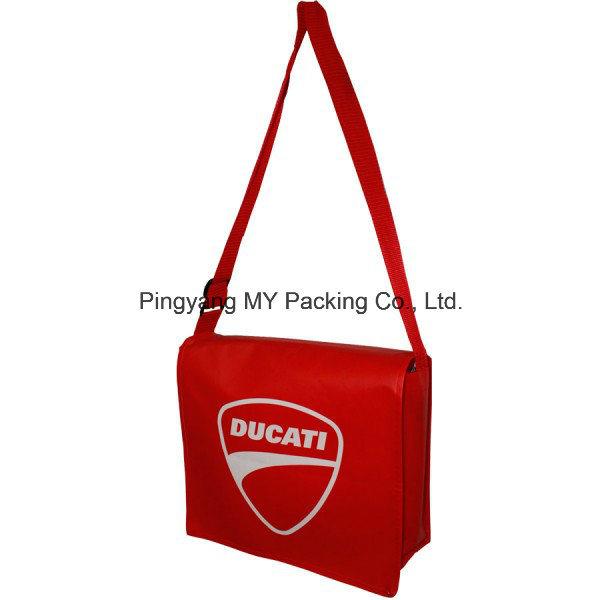 OEM Order Adjustable Strap PP Laminated Non Woven Promotional Shoulder Bag