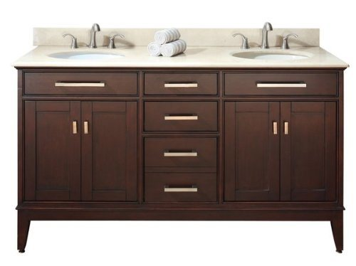 American Oak Bathroom Vanity Simple Design