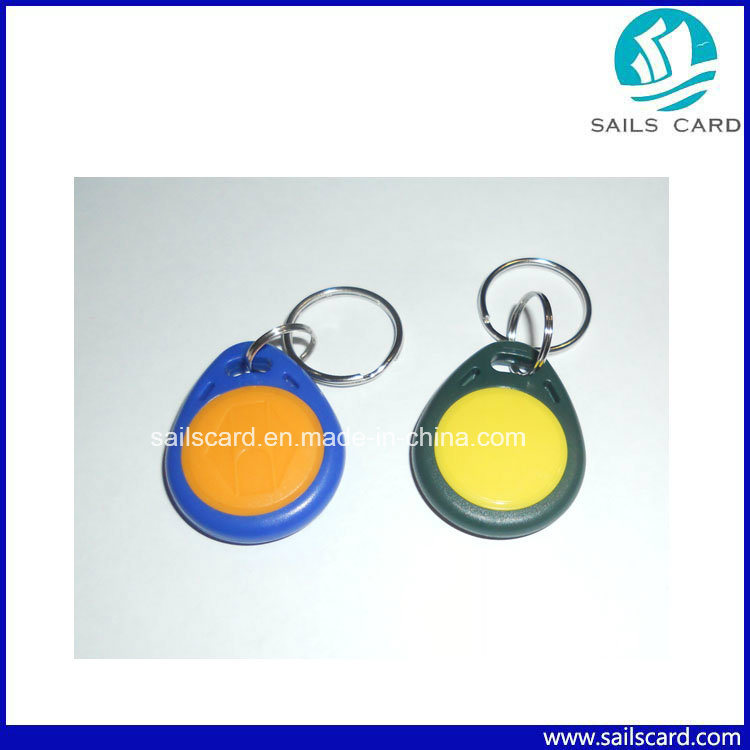 Waterproof RFID Keyfob with Lf/Hf Chips for Access Control