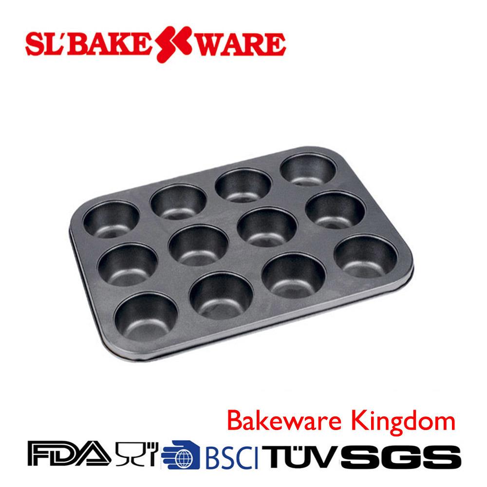 12-Cup Muffin Pan Carbon Steel Nonstick Bakeware (SL BAKEWARE)