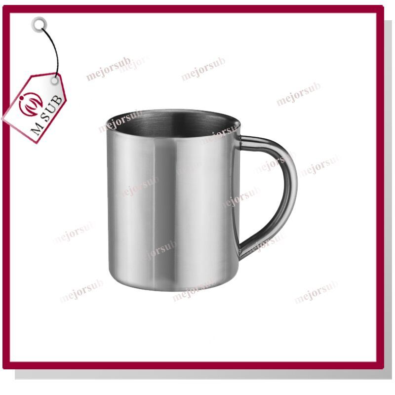 300ml 11oz Sliver Sublimation Stainless Mug with C Handle