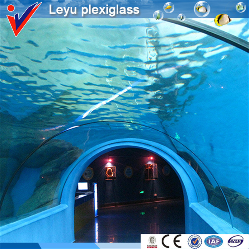 High Quality Cylindrical Aquarium for Sea Water