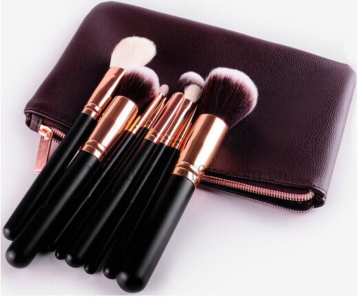 8 PCS Cosmetic Tool Luxury Rose Golden Makeup Brush Set
