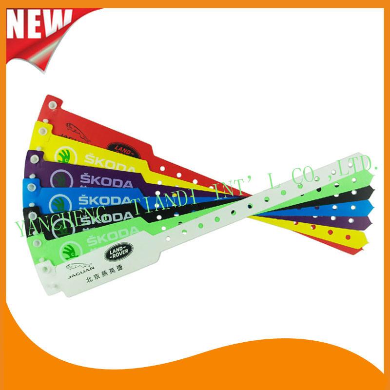 Entertainment Plastic Plastic ID Bracele Wristband Bands (E8040-1)