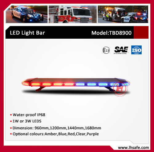 High Bright PC Body Oval LED Warning Light Bar (TBD8900A)