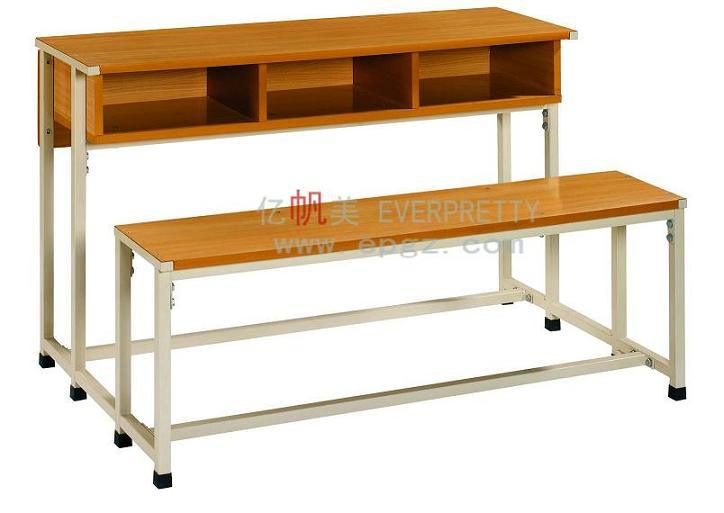 Sf-33D New Design Adjustable Desk & Chairs for Two Students