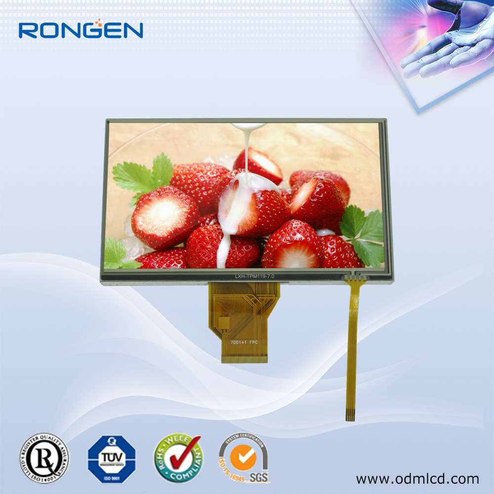 7 Inch LCD Display with Rtp 800X480 LCD Screen