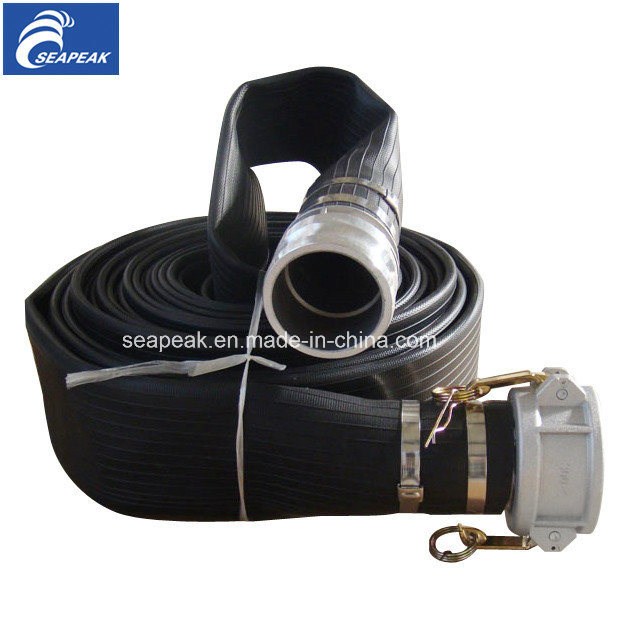 Black Rubber Covered Fire Hose