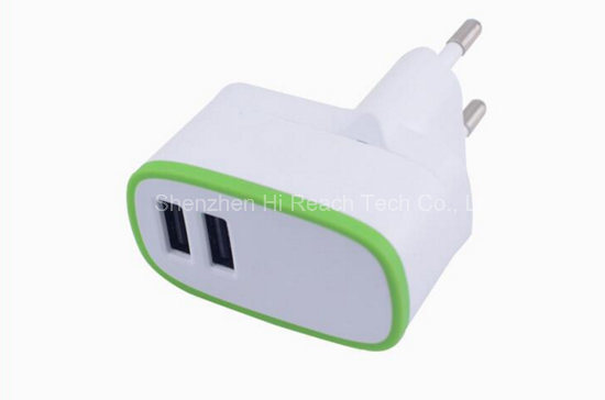 Adaptive Dual USB Travel Charger Portable UK Plug Cell Phone Adapter 5V 3.1A