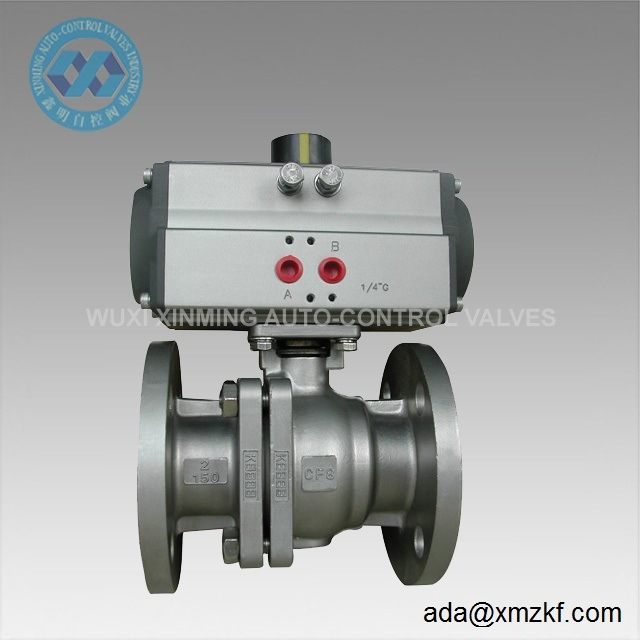 Dn125 Flanged End Pneumatic Actuator Ball Valve