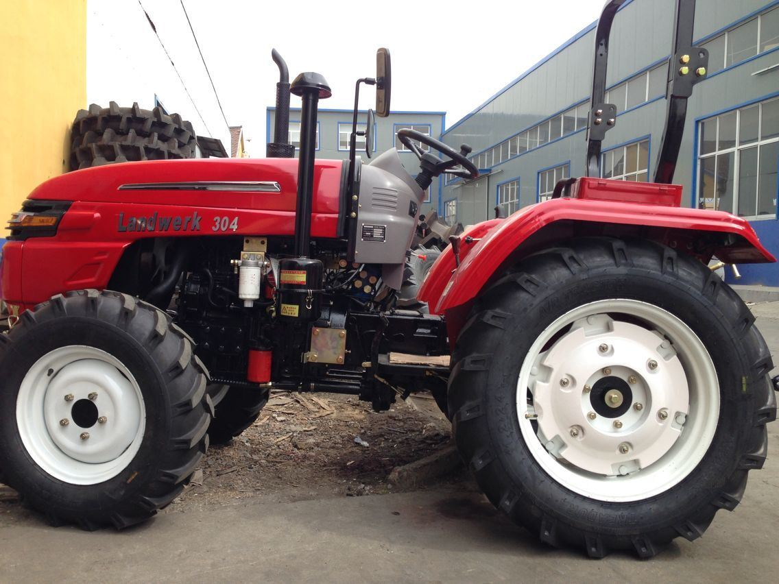 4WD 45HP Agriculture Tractor with Front Loader/Backhoe