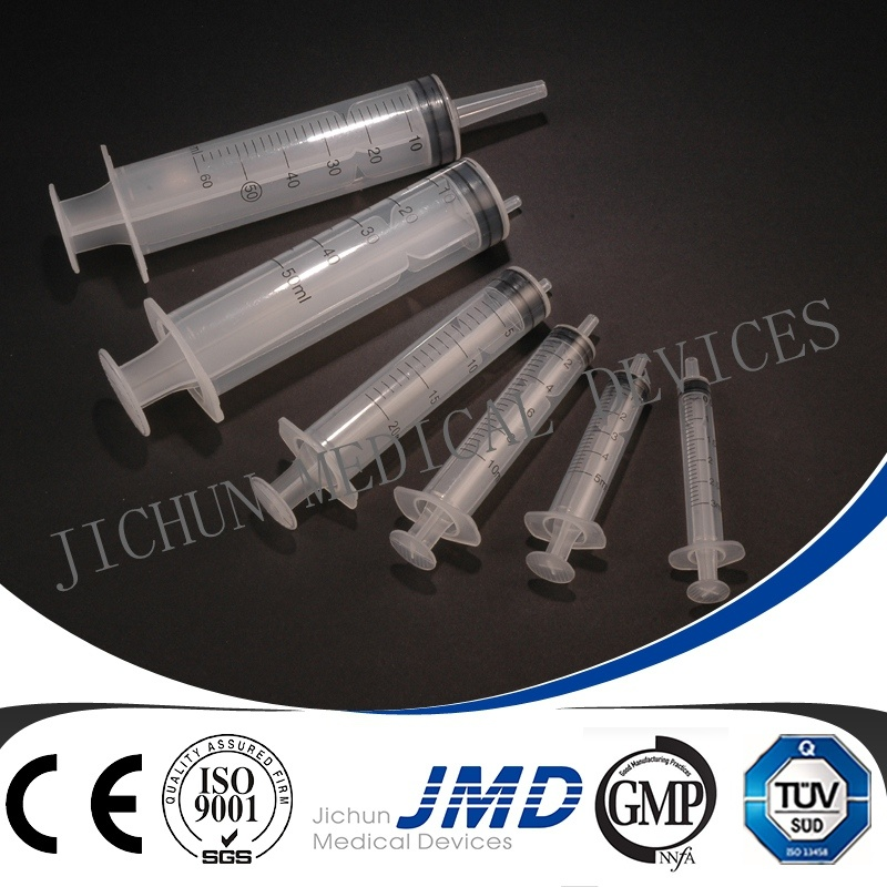 3 Part Luer Slip Safety Disposable Plastic Syringe with Needle
