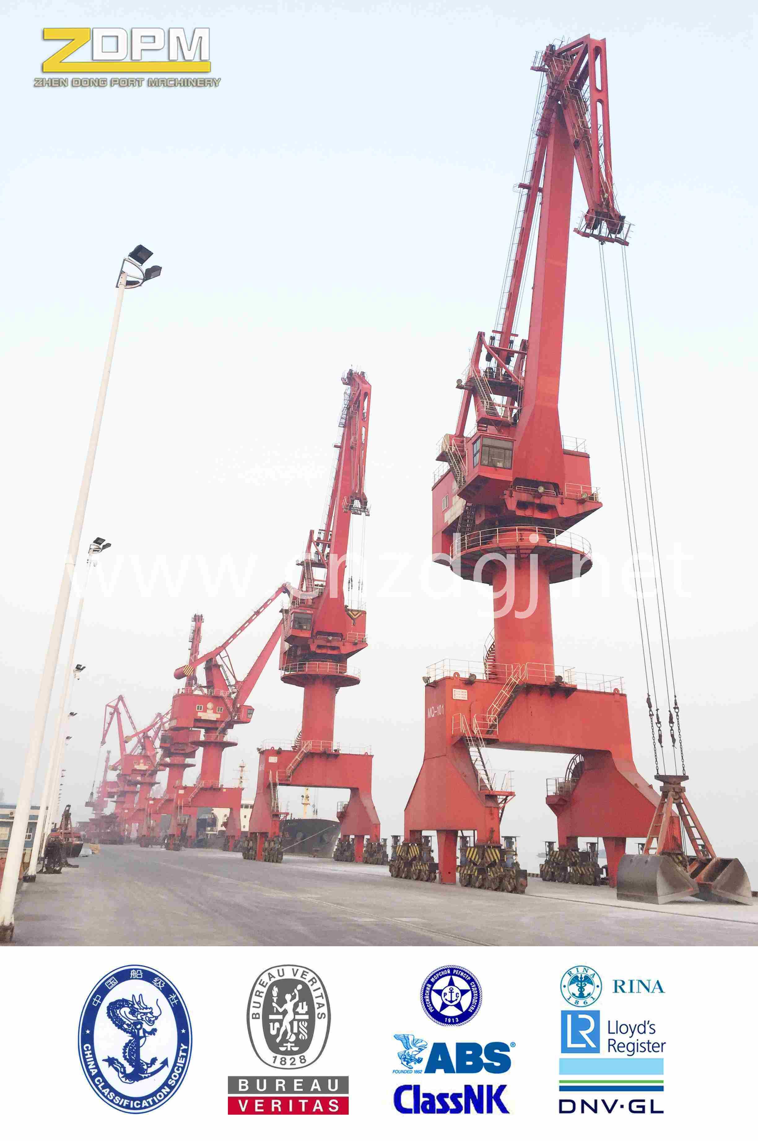 Mobile Jib Harbour Portal Crane, Dock Crane, Jetty Crane