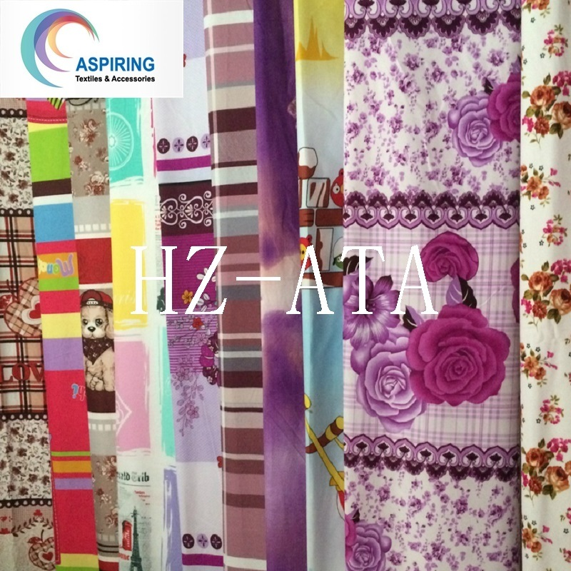 Mattress Fabric, Plain Printed Bedding Fabric, Warp Knit Polyester Fabric