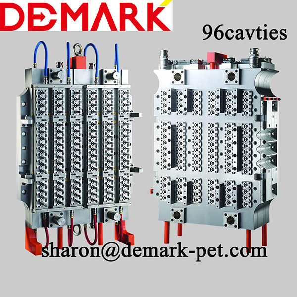 Demark Hot Runner Pet Preform Mould, 96 Cavties Plastic Bottle Preform Mould