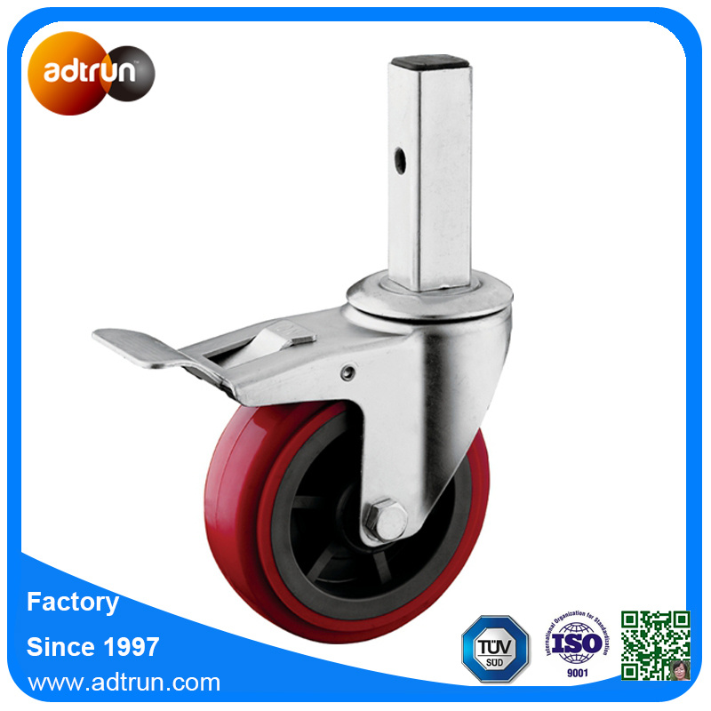 Heavy Duty Industrial Square Stem Casters with Total Lock for Scaffolding