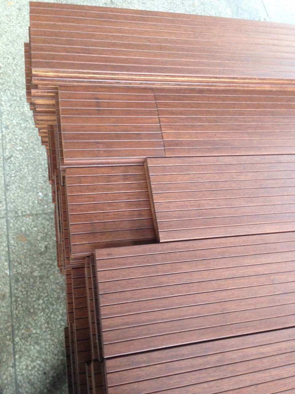 Carbonized Strand Woven Bamboo Non-Slip Bathroom Flooring