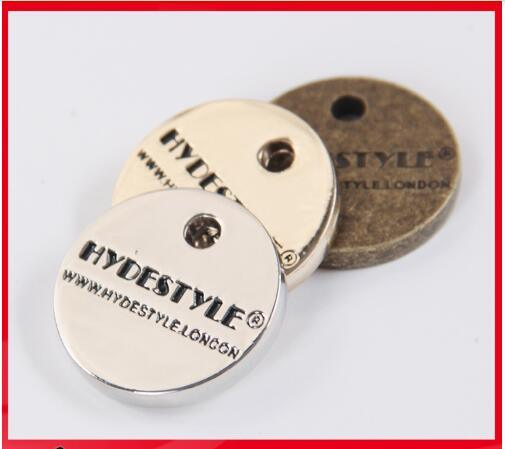Custom Factory Direct Product Hang Metal Garment Tag