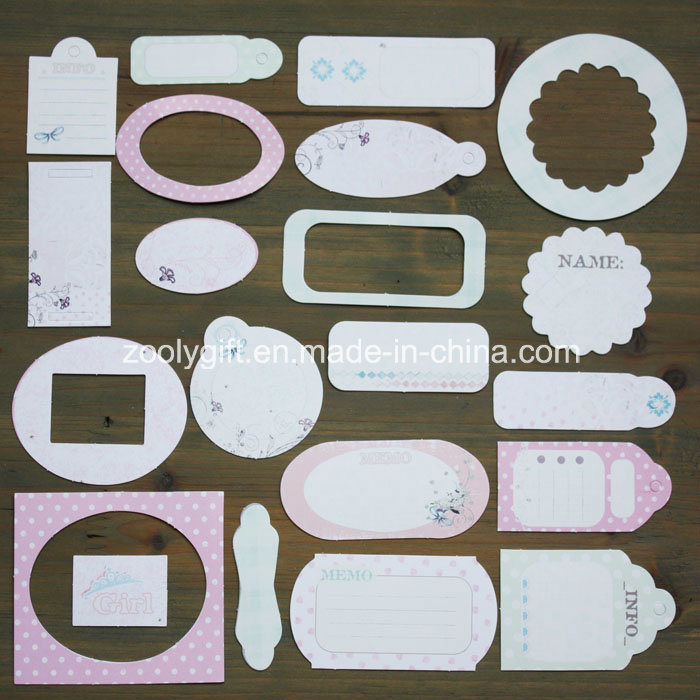 Boy Girl Wedding Flower Paper Craft Pack 21 Die-Cut Tag Mini Card