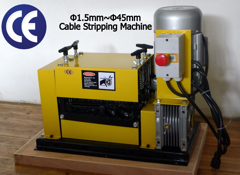 Scrap Cable Stripper (Dia. 1-45mm, 1.5kW/230V/50Hz, CE approved)