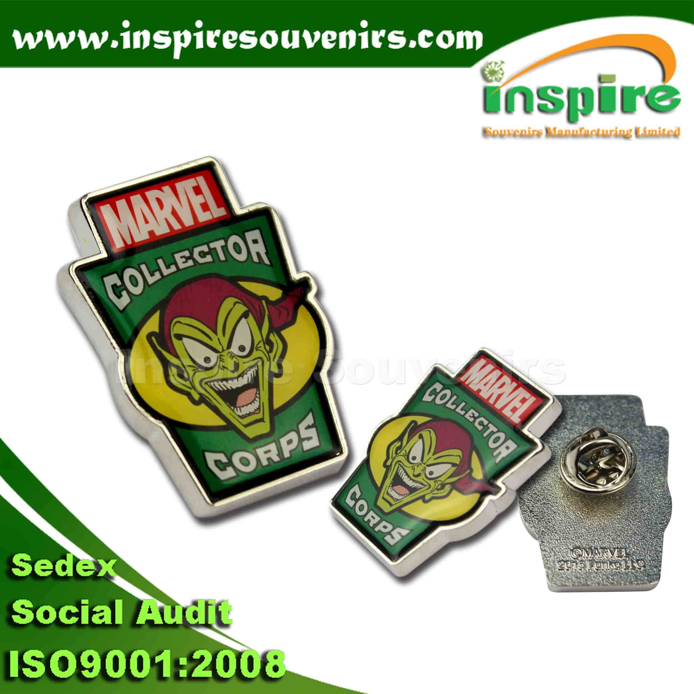 Fancy Customizing Debossed Metal Badge