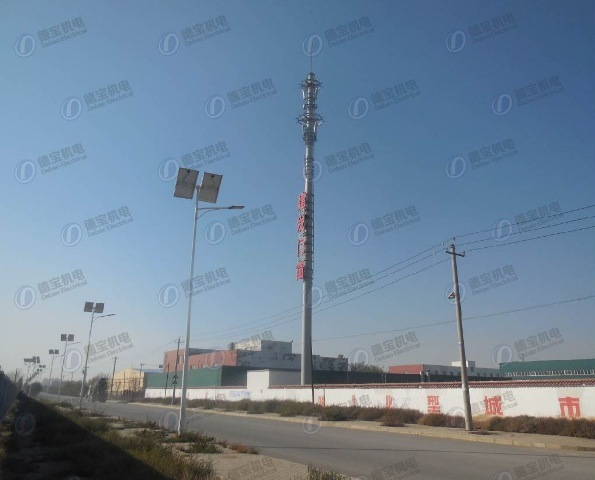 High Quality Landscape Monopole Tower with Advertisement