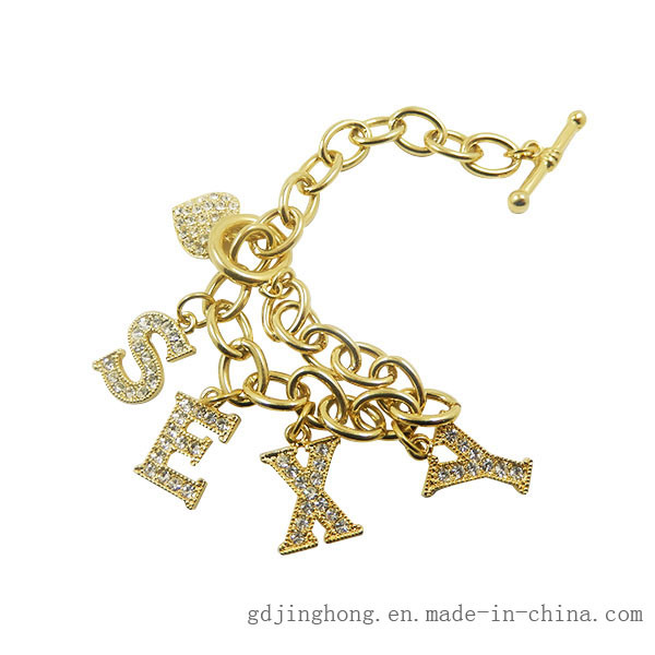Zinc-Alloy Lover Strap Logo Customized Metal Ornament Chain
