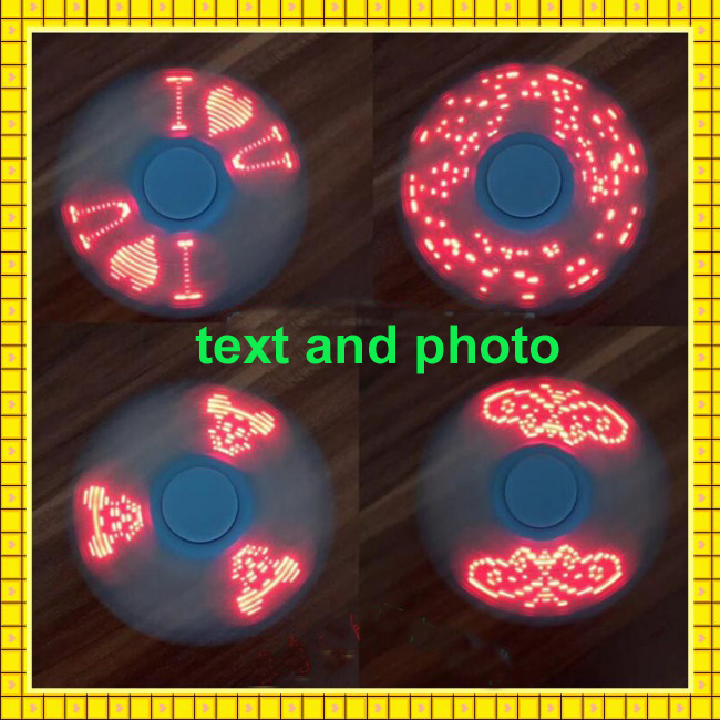 2017 Hot Selling 17 Photos LED Word I Love You Fidget Spinner
