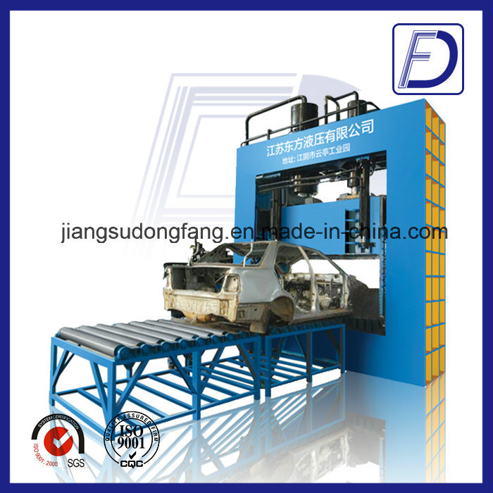 Hydraulic Guillotine Cutting Waste Tyre Recycling Machine