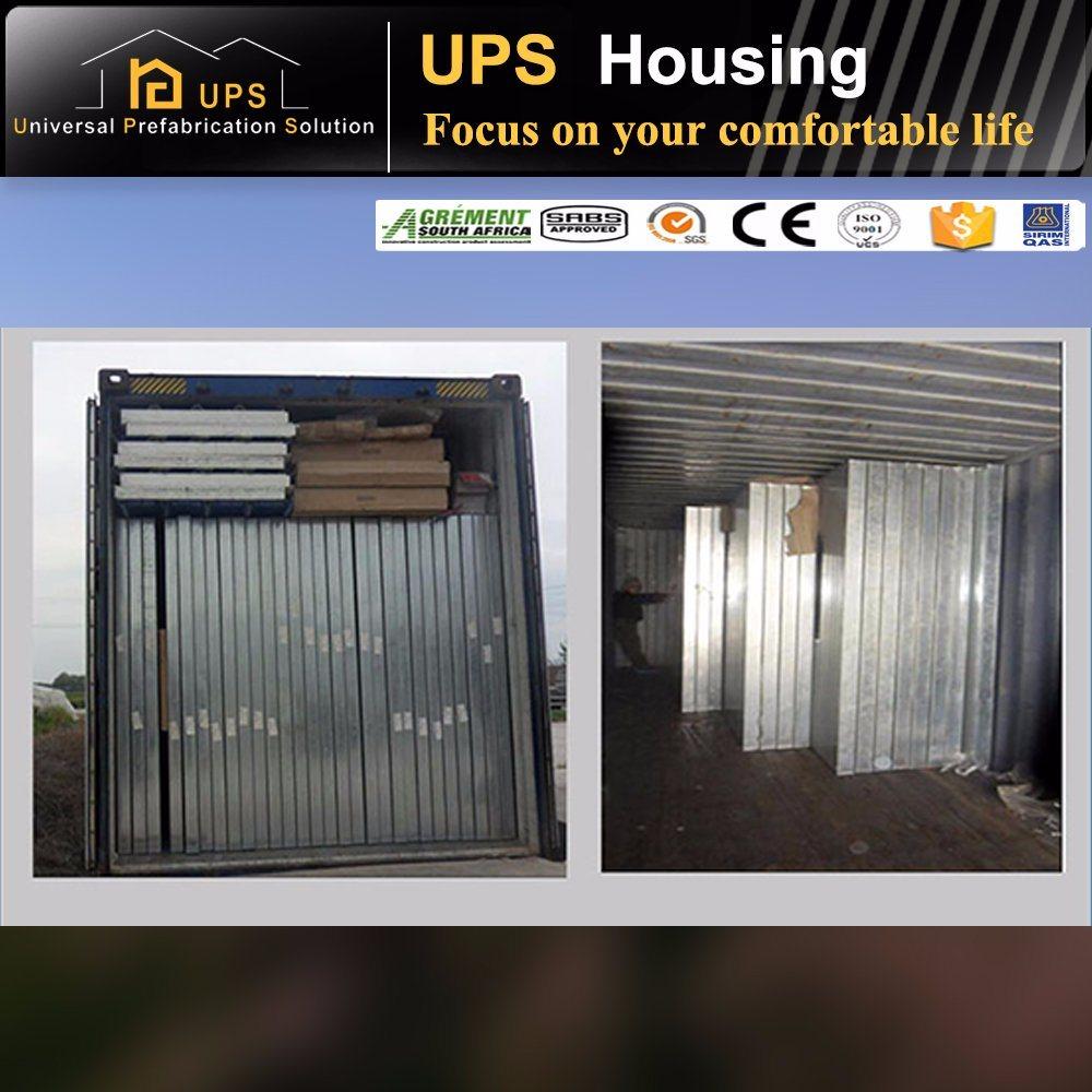 Double Floor/Level Economic Prefab House with Windows and Doors
