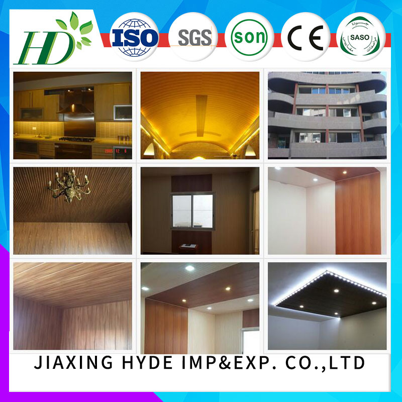 Wood Color Laminated PVC Panel PVC Wall Panels