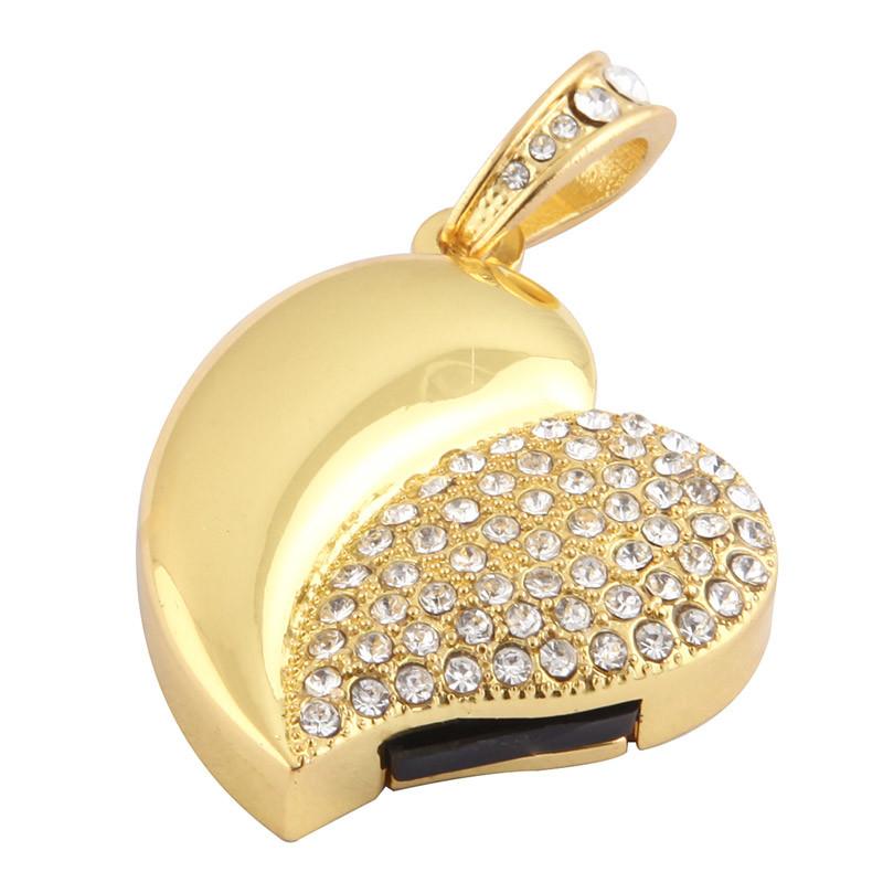 Heart Shape USB Flash Drive Jewelry USB Disk (USB 2.0)