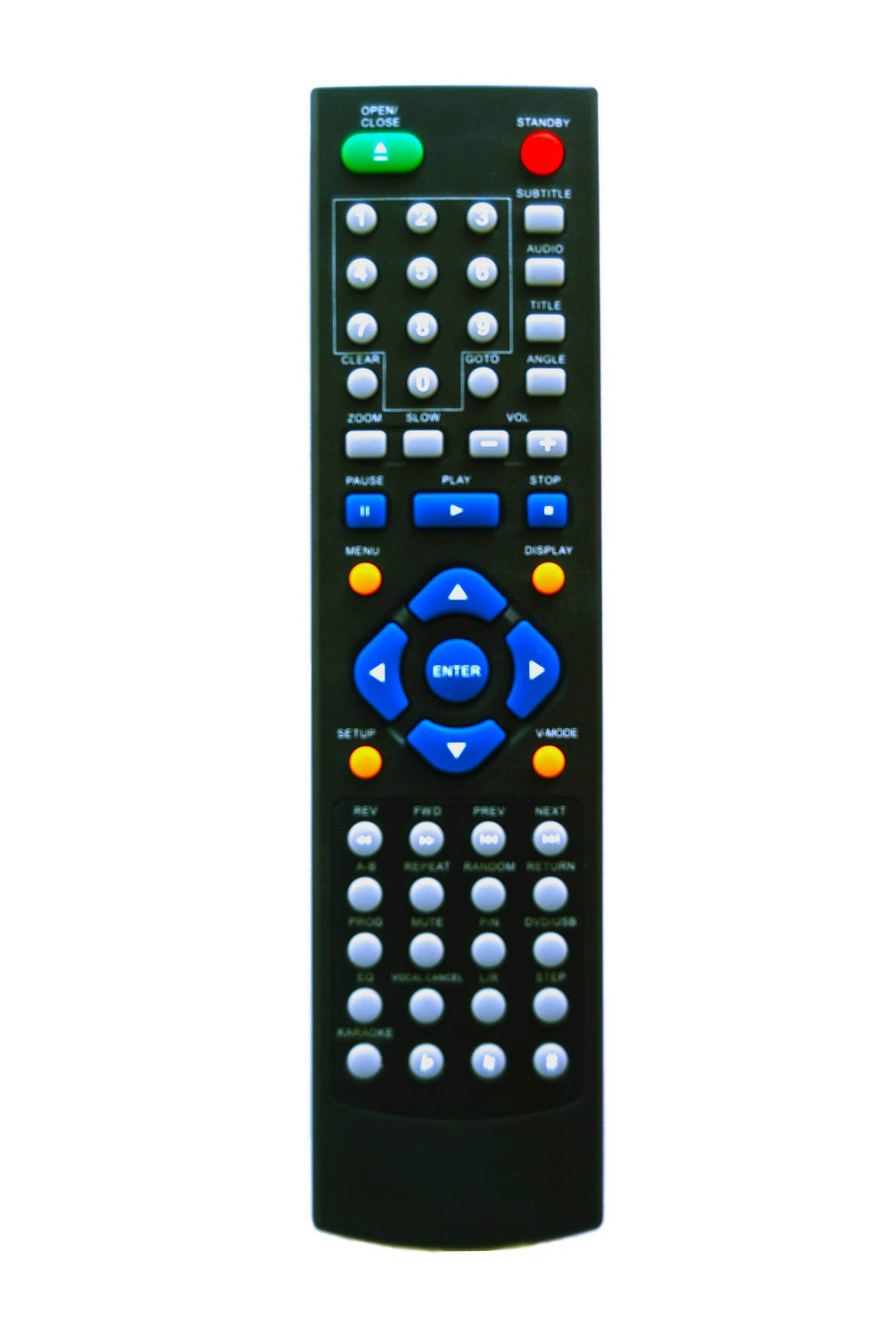 Universal Remote Control Kt-6666 with Black Colour