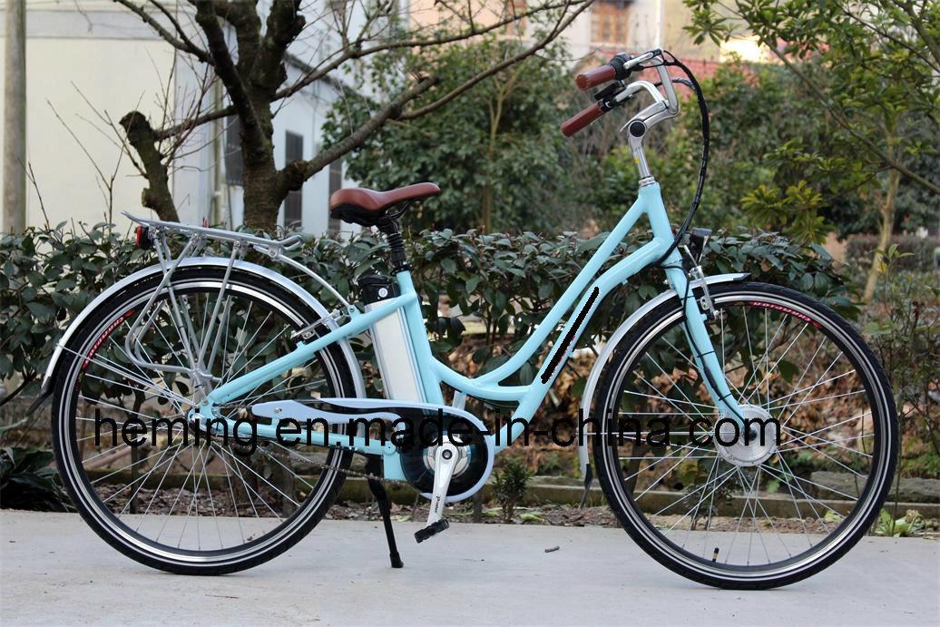 36V 250W Brushless Front Motor Lady Electric City Bike E-Bike