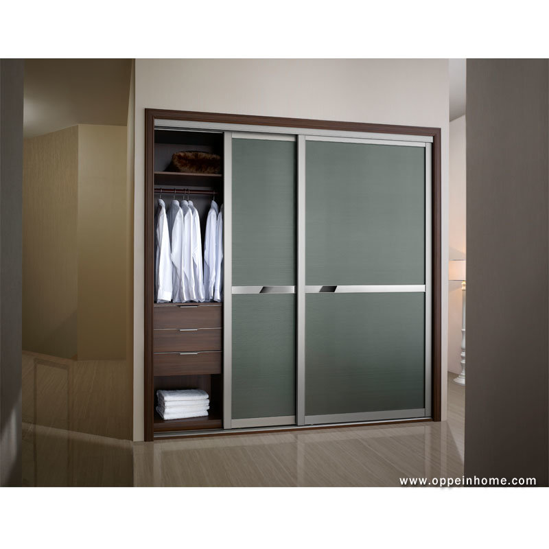 China double door sliding tempered glass built in wardrobe Pictures of built in wardrobes