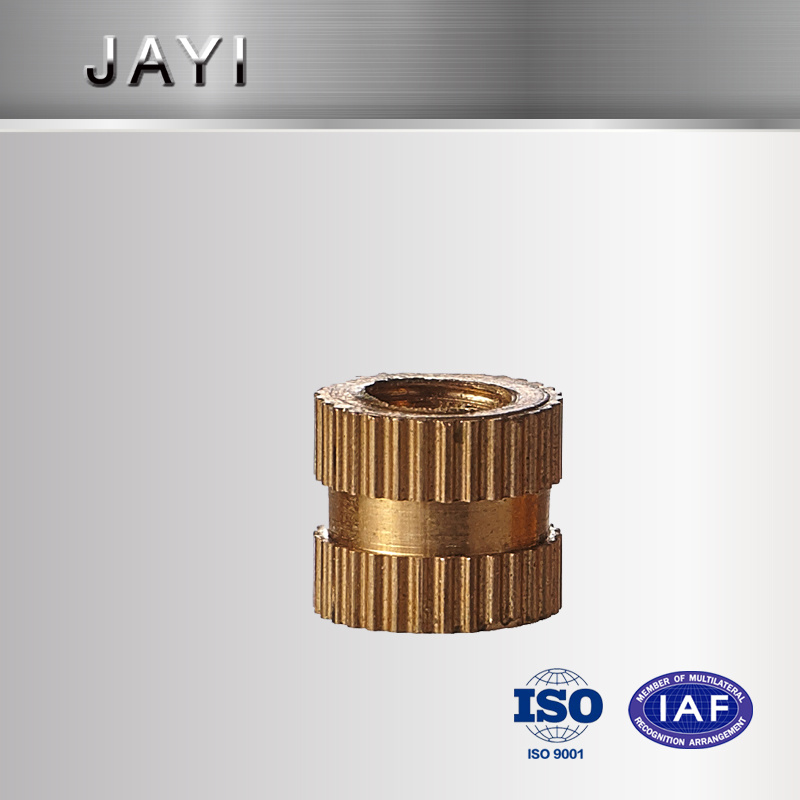 Straight Knurling Nut, Insert Nut, CNC Machined Parts, Copper Nut