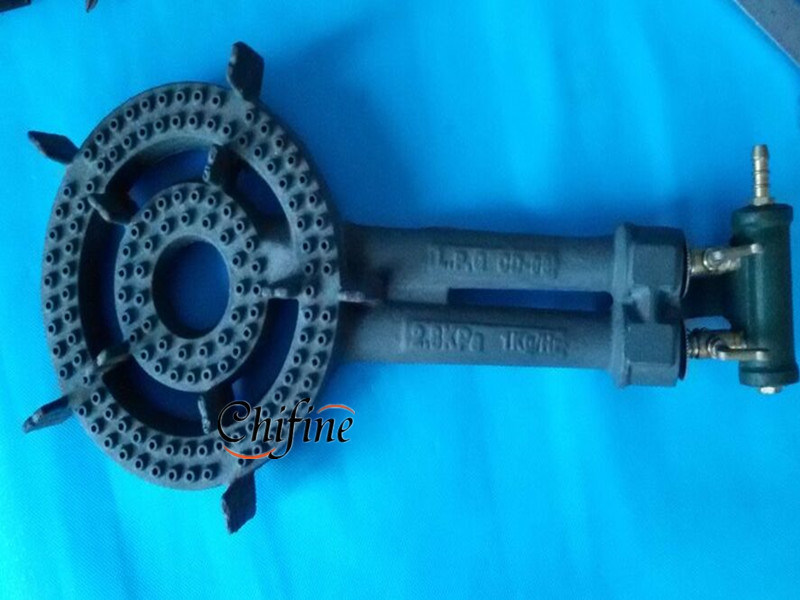 South Africa Double Ring 2 Ring Cast Iron Gas Burner with Valve