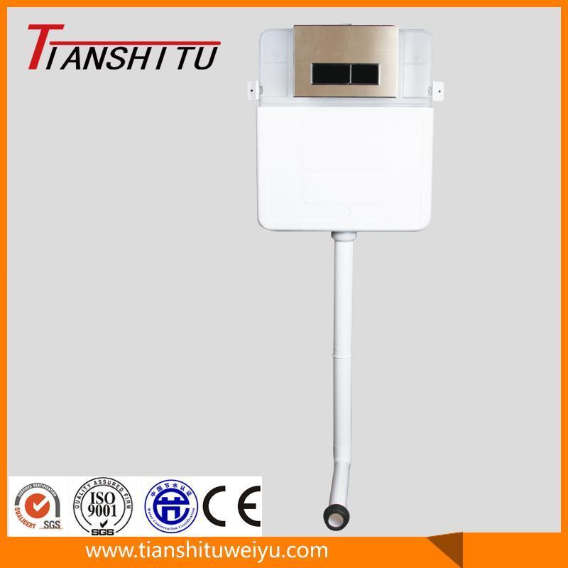 T80c Water Saving Plastic Concealed Flush Cistern for Sitting Toilet-Dual Flush Toilet Flushing Tank