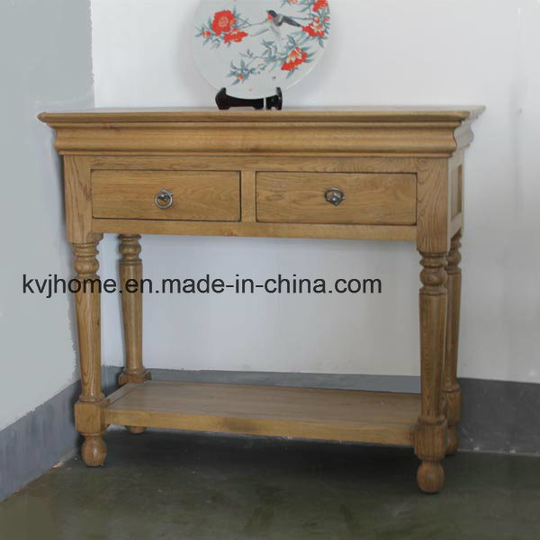 Oak Solid Oak Furniture Console Table Sideboard Furniture (OF-412)