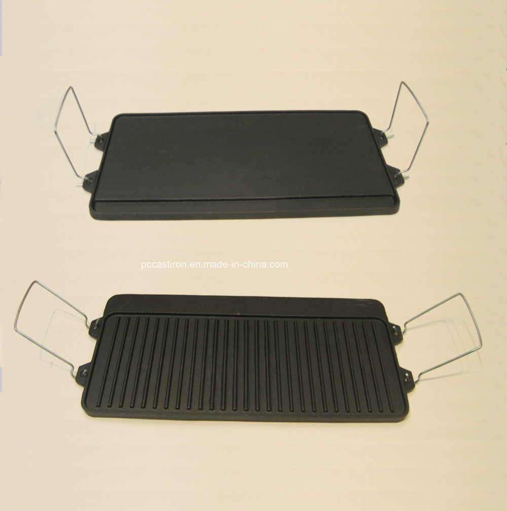 Preseasoned Cast Iron Griddle Plate Manufacturer From China