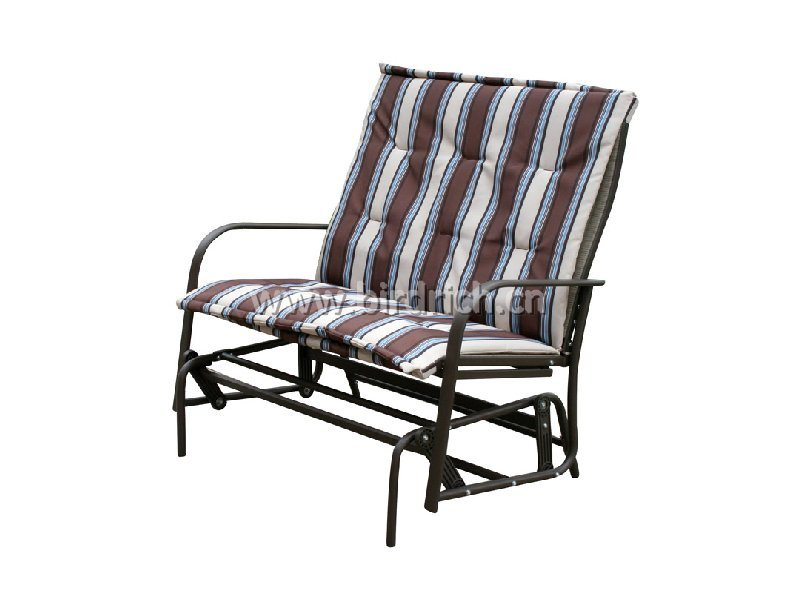 patio rocking love chair with cushion china patio chair