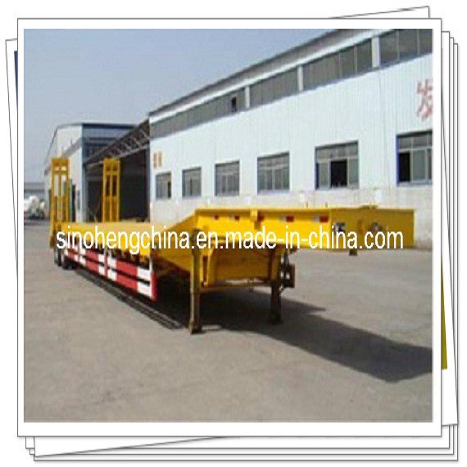 30 Ton New Low Flatbed Semi Trailer for Truck