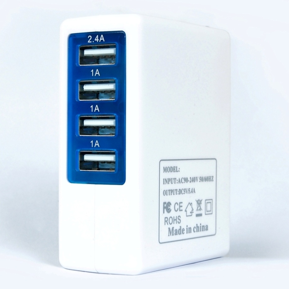 Ytc-5V5.4A Wall Plug 4 Port Power Adaptor