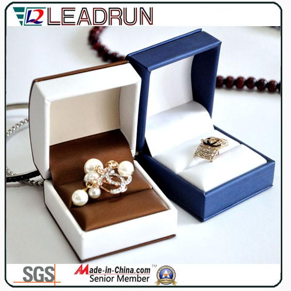 Leather Velvet Jewelry Storage Box Ring pendant Bracelet Bangle Packing Gift Box (Ys331)