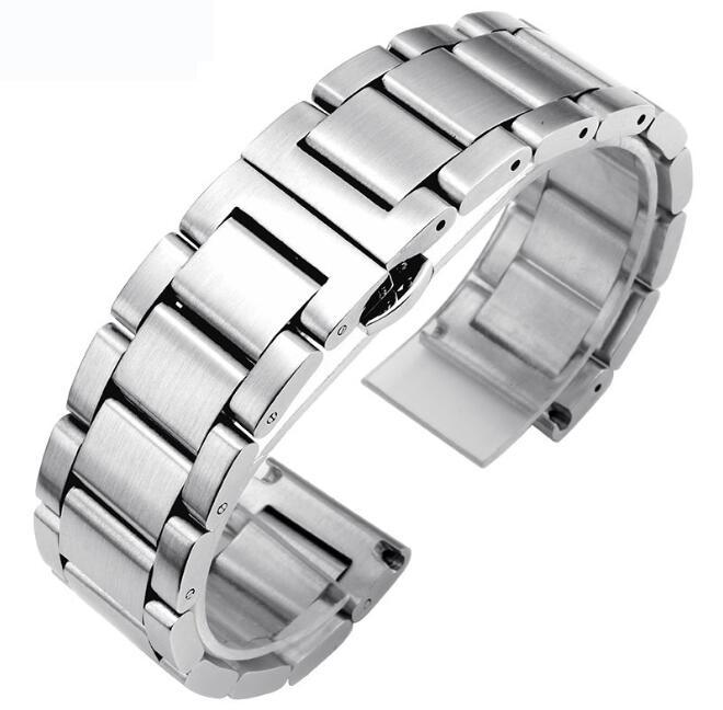 for Samsung Gear S3 Smart Watch Metal Strap 3 Beads Stainless Steel Watchband for S3 Classic Bracelet with Pins