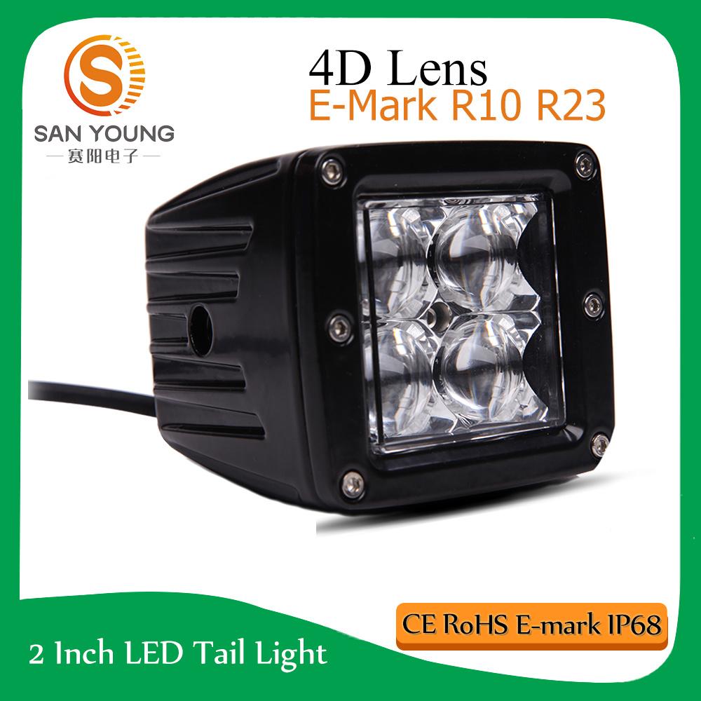 4inch 4D LED Working Light Pod Light Trucks Cars ATV E-MARK R10 R23