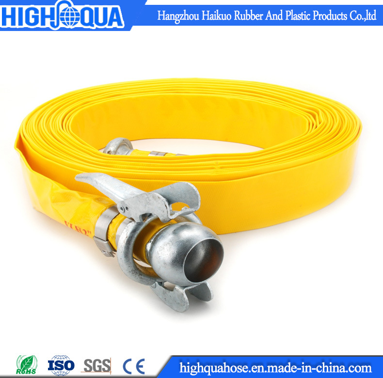 Irrigation Heavy Duty PVC Water Discharge Hose / PVC Layflat Hose