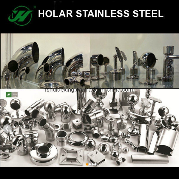 Stainless Steel Handrail Fittings for Staircase Railings